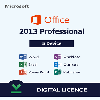Microsoft Office 2013 Professional Plus 5 user - Original License Key - Instant delivery Ms office 2013 pro plus
