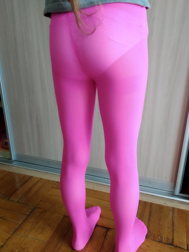 YWHUANSEN Summer Spring Candy Color Kids Pantyhose Ballet Dance Tights for Girls Stocking Children Velvet Solid White Pantyhose photo review