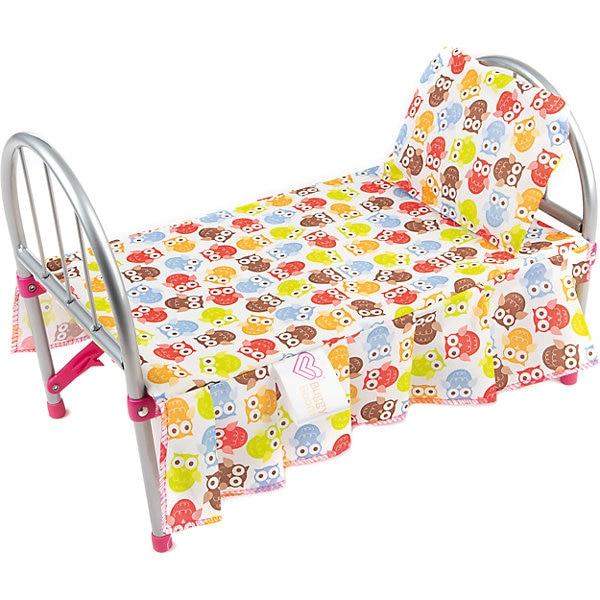 Lit bébé pour poupées Buggy Boom avec hiboux colorés