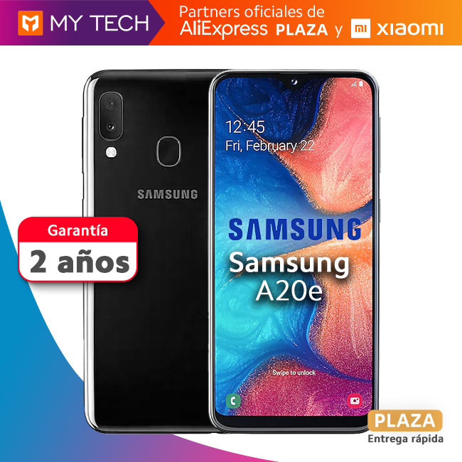 Smartphone Samsung Galaxy A20e, original mobile phone, old 2 warranty, free from Spain, Aliexpress square, 6.8''