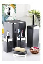 5 adet banyo yıkama seti basit ev banyo malzemeleri rezervuar diş fırçası tutucu sabunluk çöp kovası tuvalet fırçası