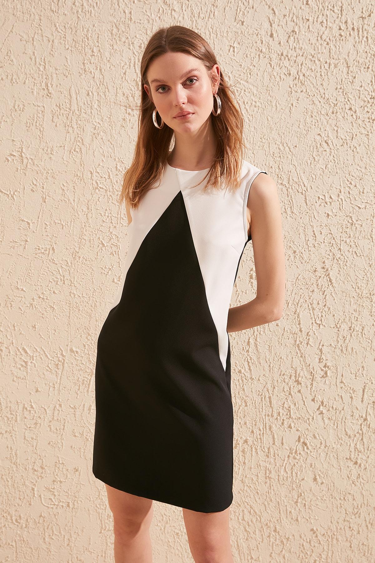 Trendyol With Color Block Dress TWOSS20EL0434