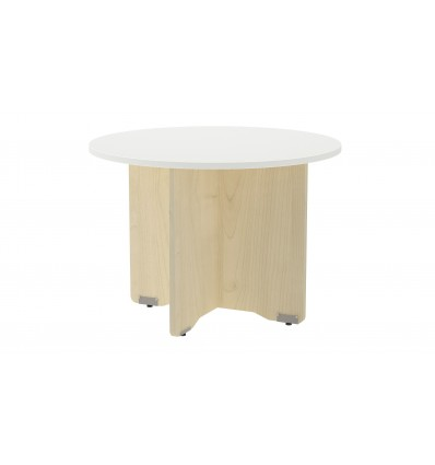 MEETING TABLE ROUND 120CM IN DIAMETER HEIGHT 72CM COLOR: PAW BEECH/WHITE BOARD
