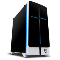 Cash Box MicroATX Hiditec Ng x2 Black AND Blanca Con Lighting Led In 7 Tones Without Source Feed 400mm X 382mm X 200