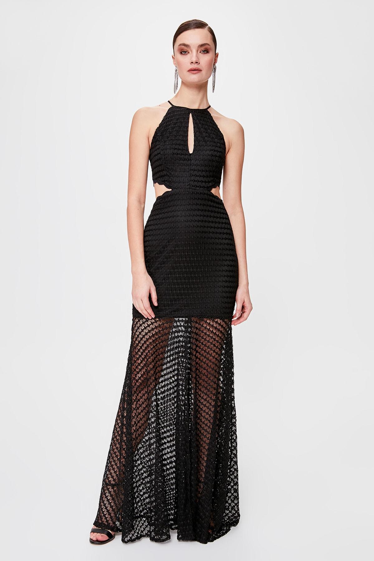 Trendyol Halter-Neck Evening Dress & Prom Gown TPRSS20AE0057