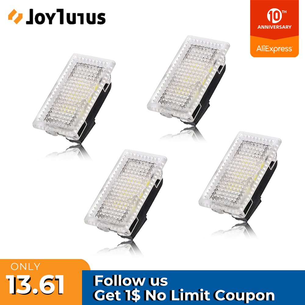 4pcs LED Light Car Interior Light For Tesla Model 3 Model S Model X Ultra Bright Trunk Lamps Replacement Car Door Lamp Easy Plug