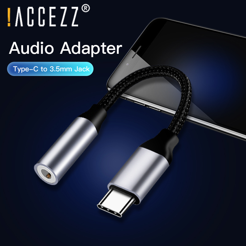 !ACCEZZ Type C to 3.5mm Headphone Jack USB C AUX Phone Adapter Charging Cable For Huawei Mate 20 P30 pro Xiaomi Mi 9 Audio Cable
