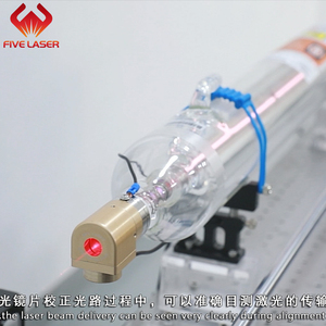 40w visable CO2 glass laser tube TR40 with red pointing for alignment and red preview made by SPT factory