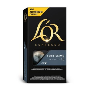 FORTISSIMO L 'or, 10 compatible NESPRESSO aluminium capsules