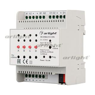 023042 Current Controller SR-KN041CC-DIN (12-48 V, 4x350/700mA) ARLIGHT 1-pc