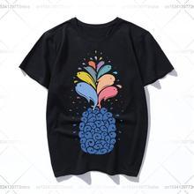 Хлопковая Высококачественная футболка seapple с коротким рукавом