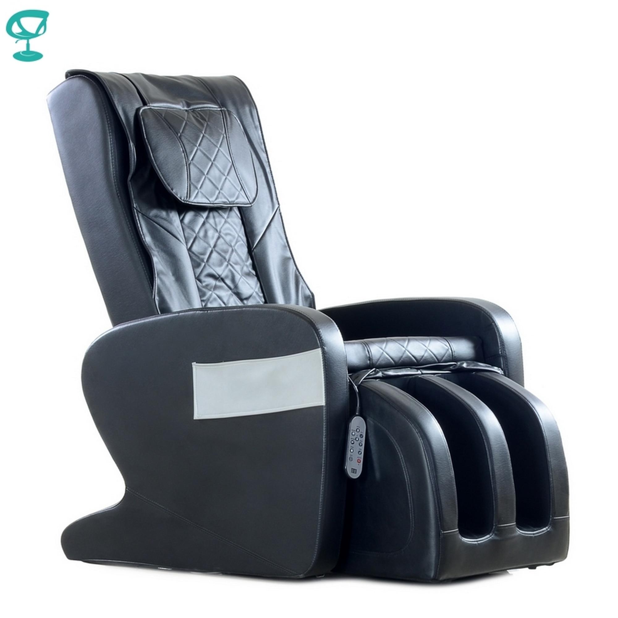 95686 Barneo Fav-S1 كرسي تدليك أسود ايكو الجلود كرسي تدليك كرسي مع كرسي التدليك شحن مجاني لروسيا