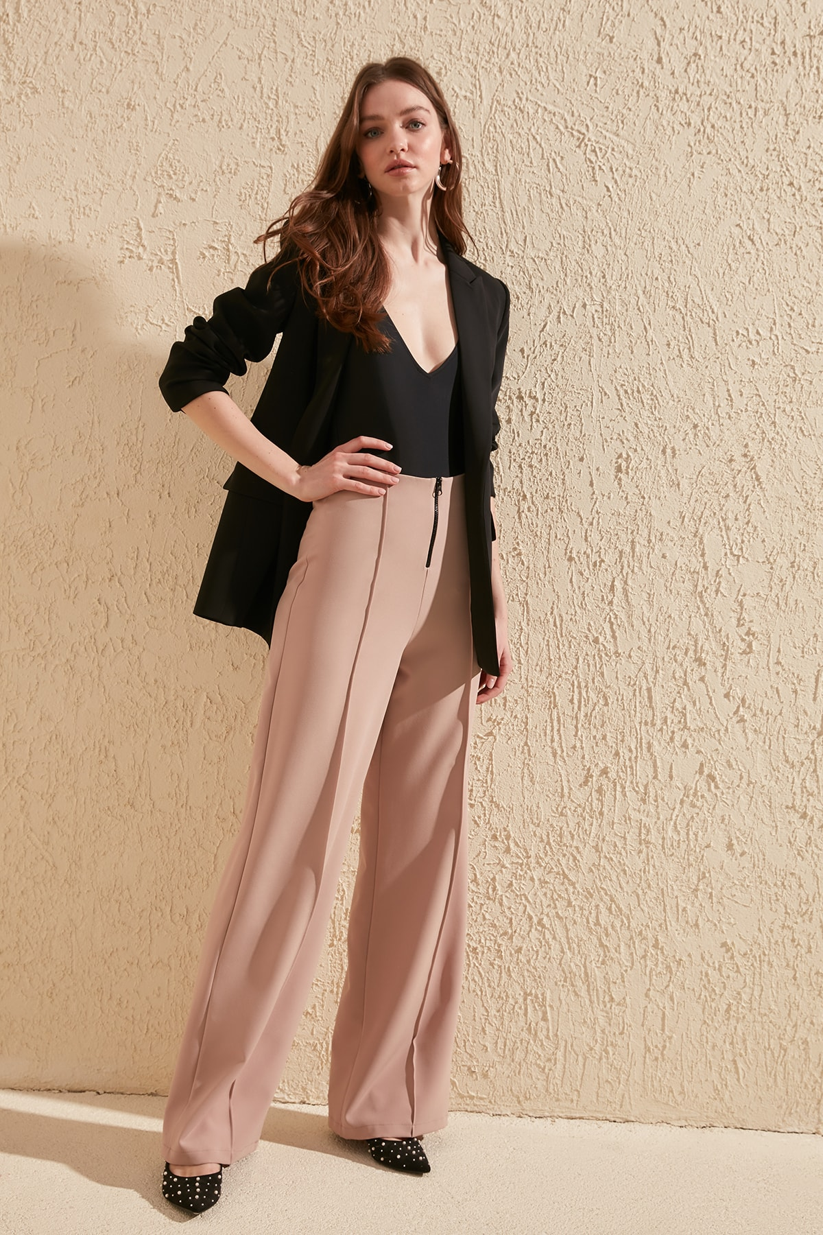 Trendyol Zip Detail Pants TWOSS20PL0153