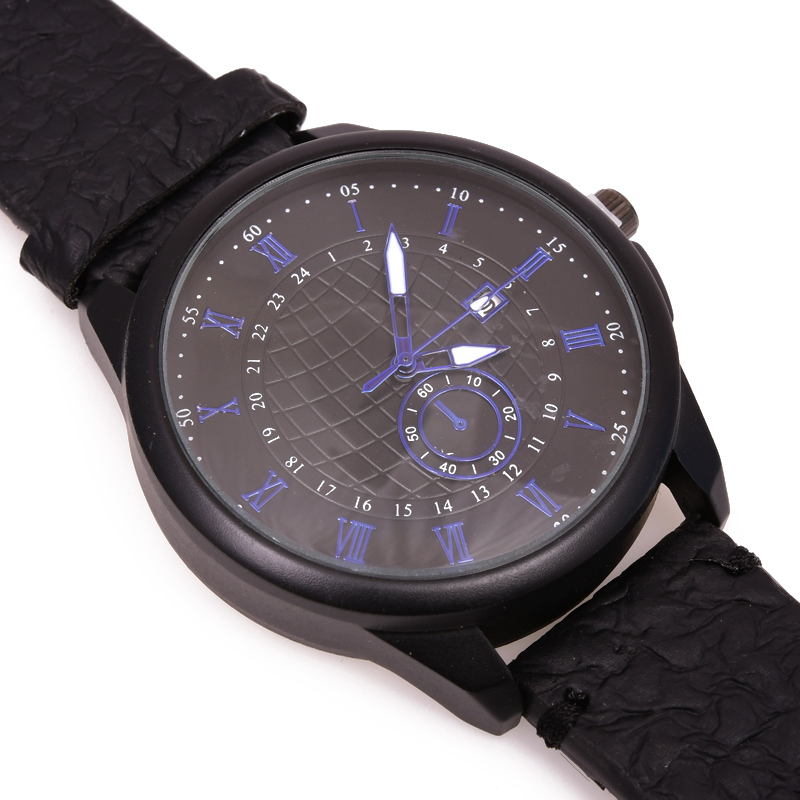 High-end brand fashion simple men's watch, leather, men's watches watch men wrist dled aviator-4535