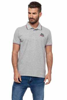 Lonsdale hombre Polo manga corta color Medium Grey melange (17114) цена 2017