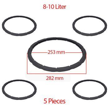 Uszczelnienie ciśnieniowe pary szybkowar pierścień uszczelniający zamiennik dla SEB Tefal Clipso 8-10 1 litr (5 sztuk) tanie i dobre opinie TR (pochodzenie) Części do parowaru