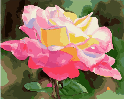 Painting By Numbers PK 49017 Bud Roses Under The Sun 40*50