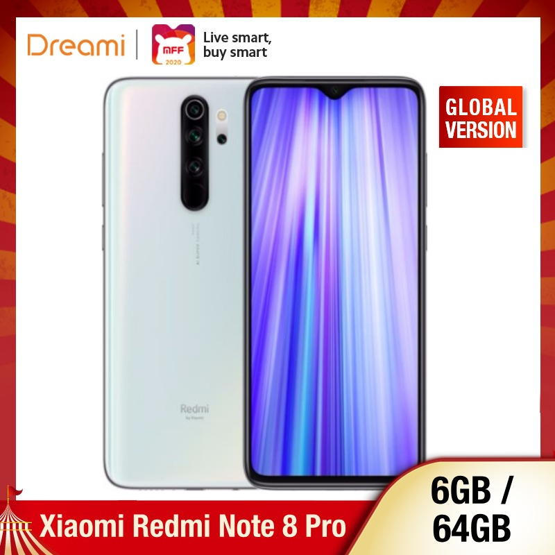 Global Version Xiaomi Redmi Note 8 PRO 64GB ROM 6GB RAM (Official Rom), Note8 Pro