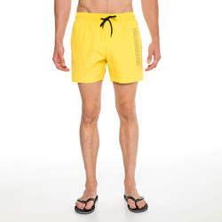 Routefield Volt Yellow Mens Board Shorts Swimwear Swimming Beach Short Surf Pants Swimsuits Boardshorts