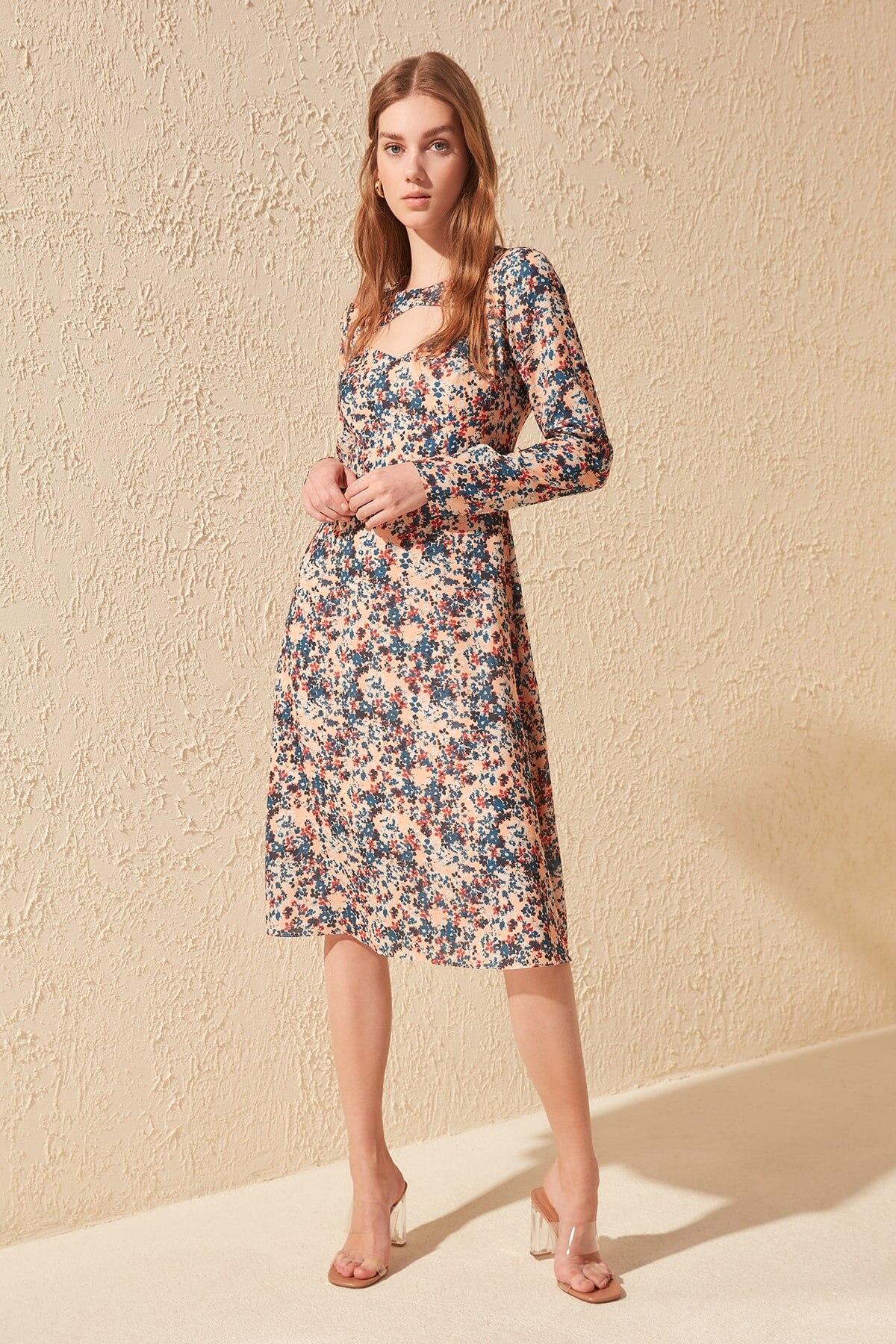 Trendyol Patterned Dress TWOSS20EL0231