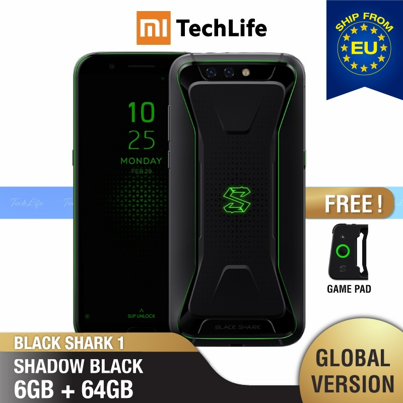 Global Version Xiaomi Black Shark 1 64GB ROM 6GB RAM Gaming Phone (Brand New / Sealed) Blackshark1, Blackshark Smartphone Mobile