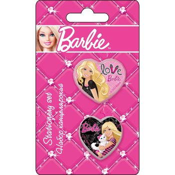 Set stationery Barbie knife large eraser figured фото