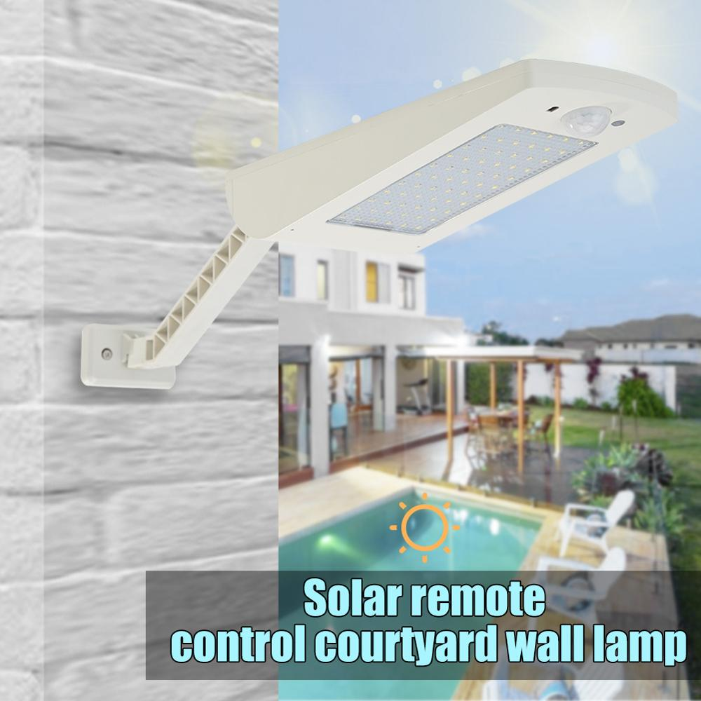 1000LM Solar Light PIR Motion Sensor 66 LED Wall Lamp With Remote Control Waterproof Solar Powered Lamp for Outdoor Garden Yard