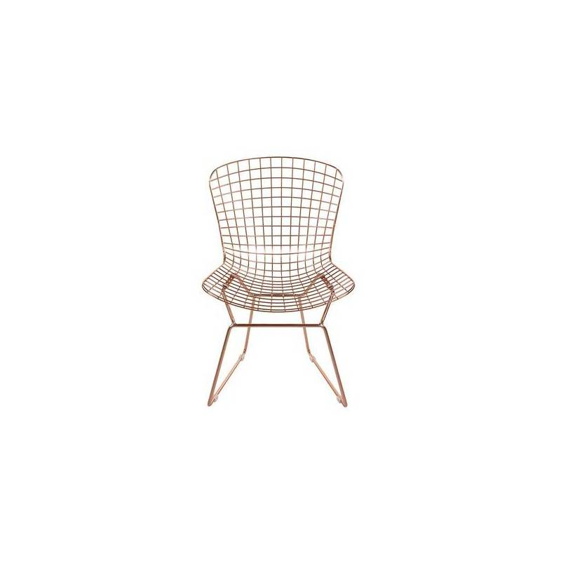 Dining Chair Metalic Curve (53x83x59 Cm)