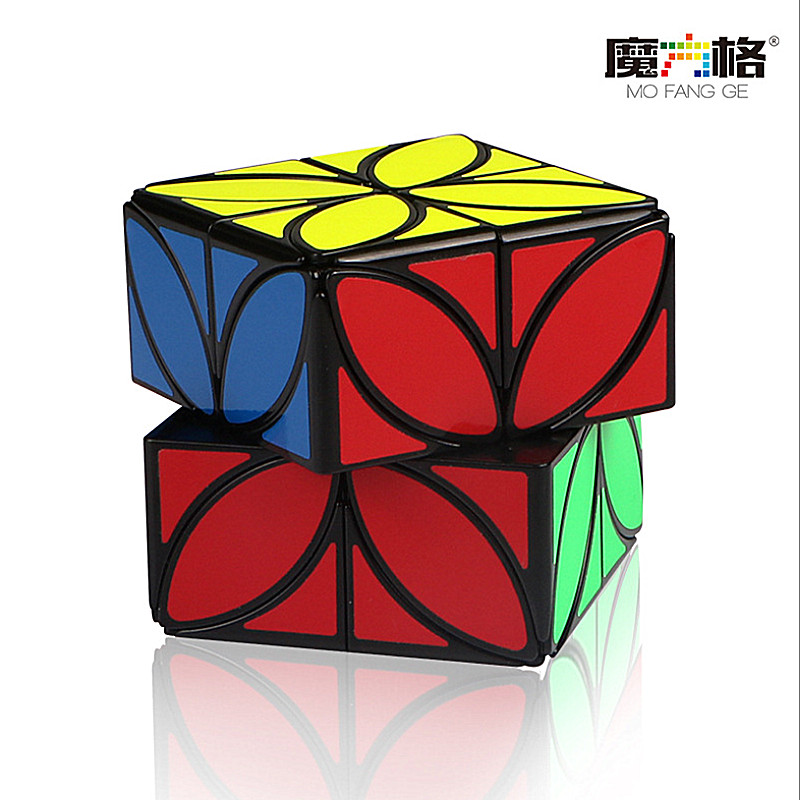 QiYi Clover Magic Speed Cube Puzzle Plus Version 4 Leaf Clover Cube Strange-shape Magic Speed Cube Puzzle Toys For Children Kids