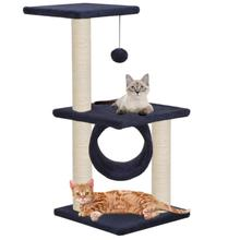Árbol del gato con postes de rascadores de Sisal 65 cm rascadores para gatos Multi-nivel Play Center totalmente funcional Cat Gym para Multi-cats House