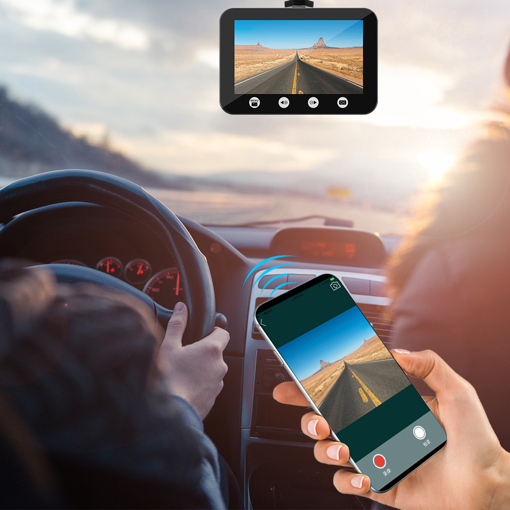 SYS Dual 1080P Auto DVR WiFi SONY IMX323 mit 2 Getrennt Vorne Rückansicht Nachtsicht Wasserdichte Kameras Video recorder Dash Cam