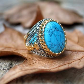 Męski pierścionek 925 srebro pierścionek z kamieniem Wedding Man Rings biżuteria męska pierścionki dla mężczyzn pierścionki dla kobiet męskie pierścionki mężczyzn biżuteria tanie i dobre opinie turkishsilver 925 sterling TR (pochodzenie) Mężczyźni turquoise Grzywny Cyrkon 2554781-896 TRENDY CNAS