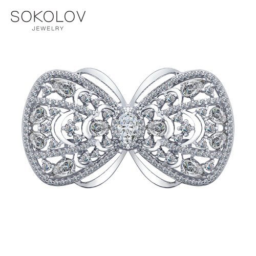 Brooch SOKOLOV With Cubic Silver