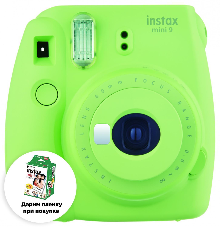 Камера моментальной печати Fujifilm Instax / Фотоаппарат MINI 9 LIME GRÜN/пленка в подарок