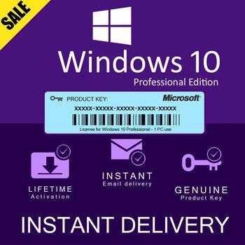 Microsoft Windows 10 Pro Key 32/64 bit Global online activate Lifetime activation - all languages