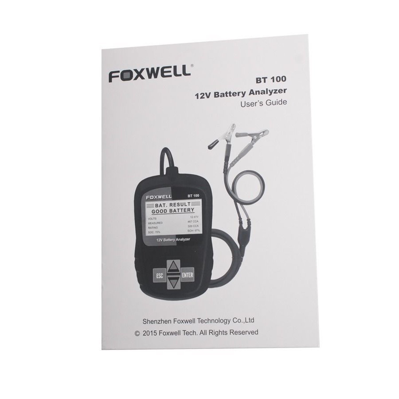 FOXWELL BT100 12V Auto Batterie Tester Analyzer Diagnose Werkzeug Für Alle Autos