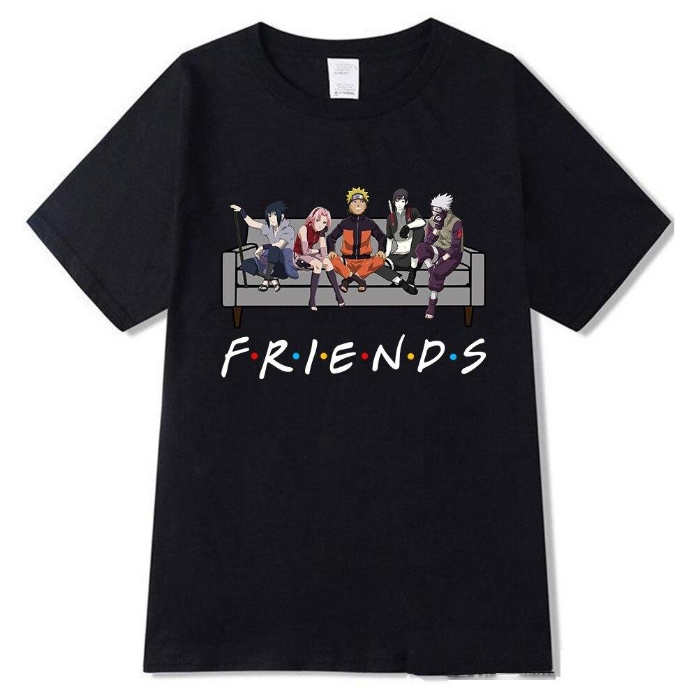 Naruto Kakashi Friends Printed Round Neck T-Shirts Cozy Tops