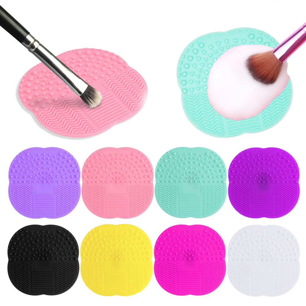 1PCS Silicone Makeup Brushes Cleaner Pad Make Up Washing Brush Cleaning Mat Cosmetic Brushes Silica Gel Scrubber Board