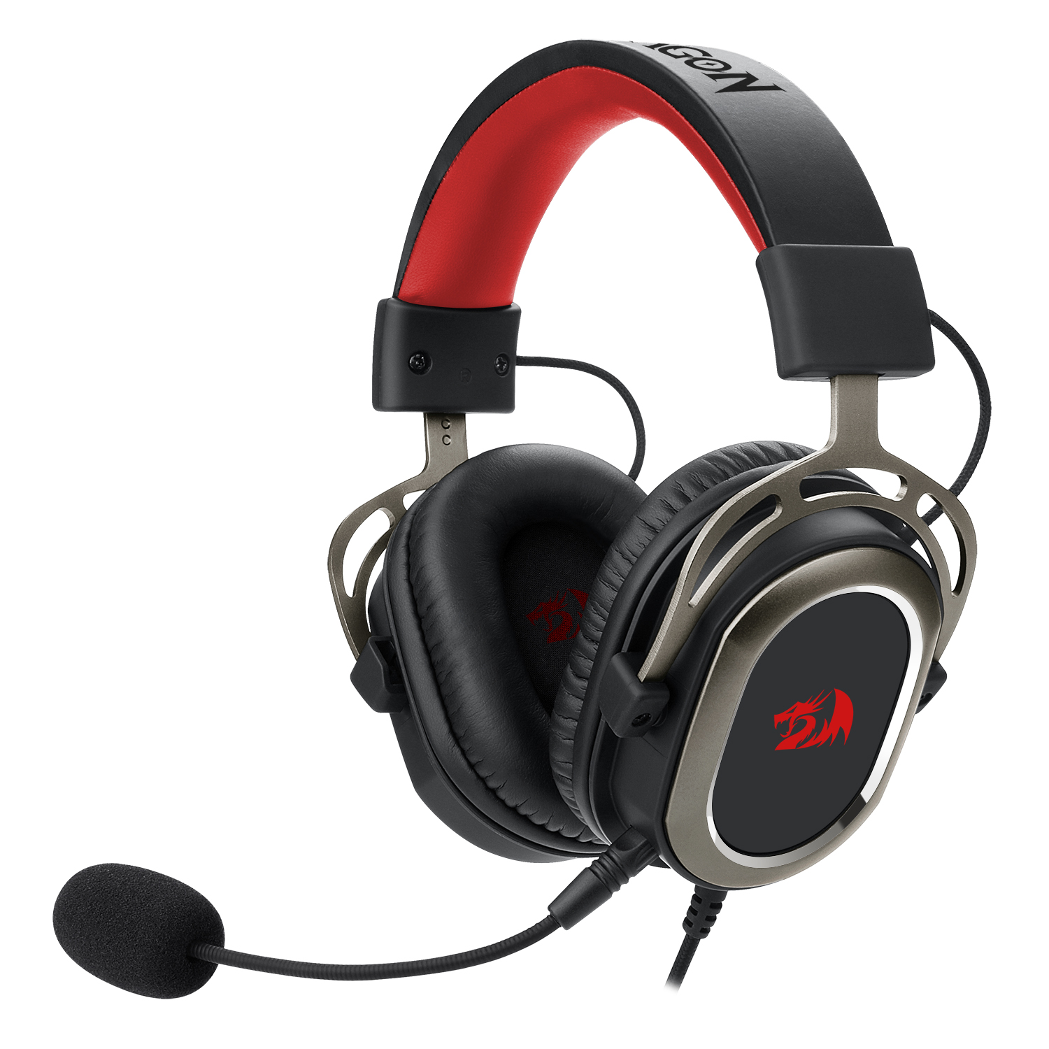 Redragon H710 Helios USB Wired Gaming Headset - 7.1 Surround Sound - Memory Foam Ear Pads - 50MM Drivers - Detachable Microphone