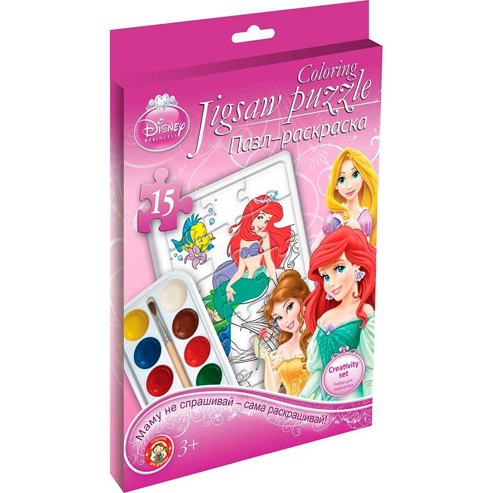 Set For Children's Creativity Disney Princess Puzzle Painting