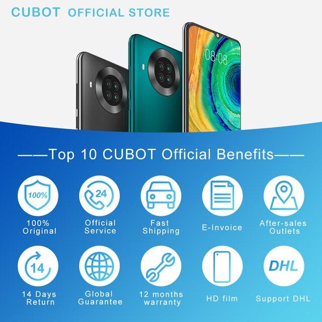 "Cubot Note 20 Pro Quad Camera Smartphone NFC 6GB/8GB+128GB 6.5"" 4200mAh Android 10 Dual SIM Telephone 4G LTE celular Note20 Pro 6"