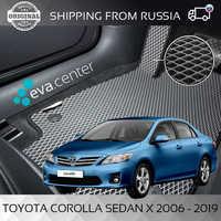Car Mats Eva on Toyota Corolla X sedan E150 2006 - 2013 set of 4x mats and jumper/Eva mats car stickers