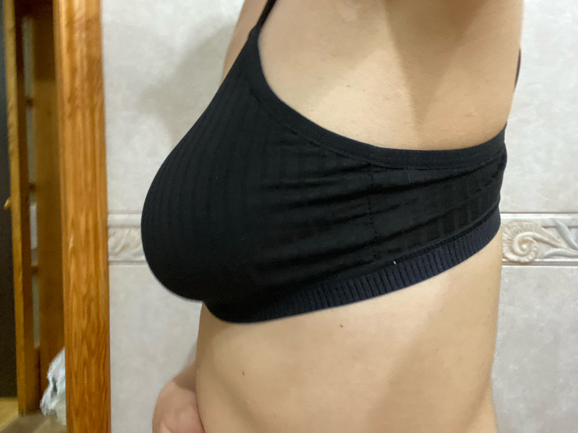 2PCS Bra Set Women Sexy Bralette Sexy Female Underwear Lingerie Basic Stretchy Tank Crop Top Ribbed Tops Girls Fashion Brassiere photo review
