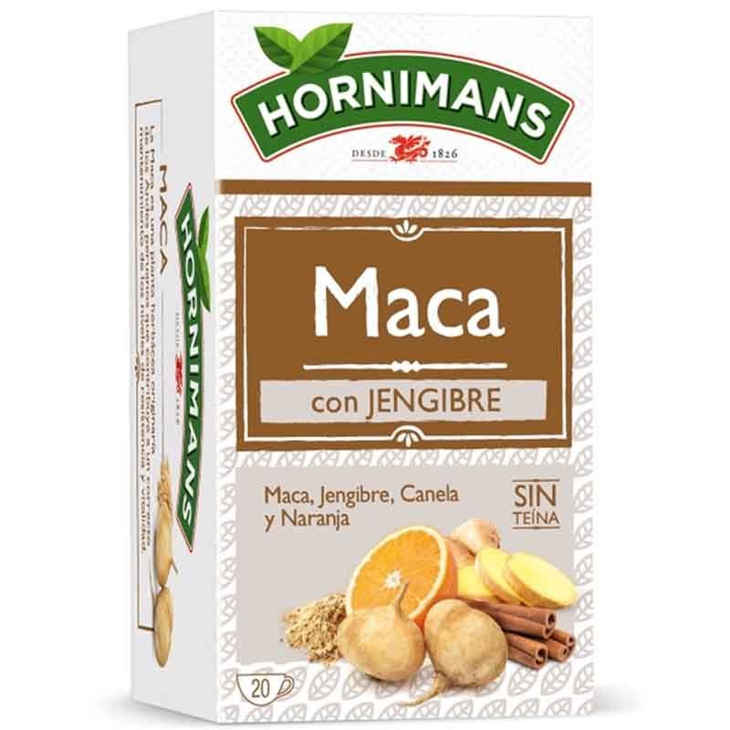 Infusion Maca With Ginger, Cinnamon And Orange. 20 Bags Hornimans