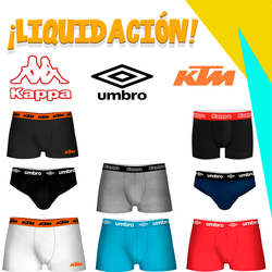 Liquidation boxer shorts KTM, Von Dutch, Umbro, kappa and Pierre Cardin made of cotton and microfiber for men