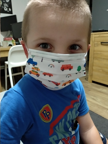 50/100/200Pcs Child Kids Disposable Face Masks 3 Layer Anti-Dust Pollution Masks Fabric Meltblown Dustproof Cartoon Dog Cat Mask