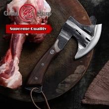 Hand Forged Axe Chef's Boning Knife Fire Hatchet Tomahawk Camping Outdoor Fishing Gadget Home Garden Kitchen Tool Bones Chopping