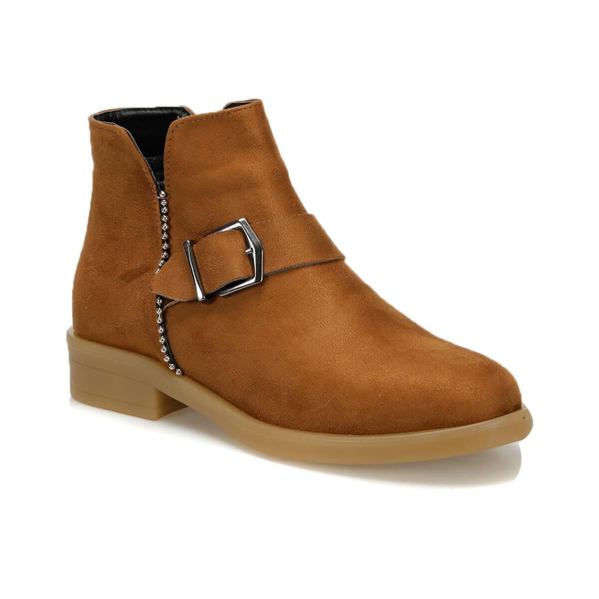 فلو WITSEL17Z الجلد تان أحذية نسائية BUTIGO