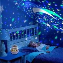 Проекционная лампа с 5 шт. пленками День рождения Любовь USB ночной Светильник Луна вечерние украшения креативный Звездный светильник проектора с подарочной коробкой