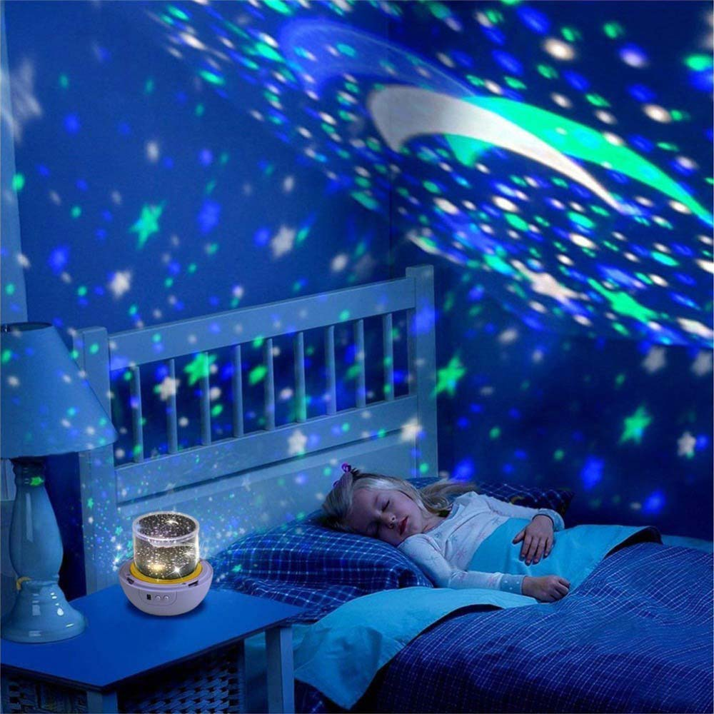 Projection Lamp  With 5pcs Films Birthday Love USB Night Light Moon Party Decoration Creative Star Projector Light With Gift Box